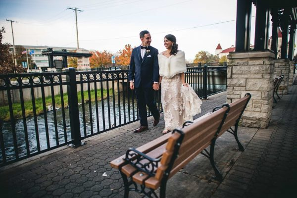 Stroll Along the Fox Riverwalk.  Waukesha WI Weddings